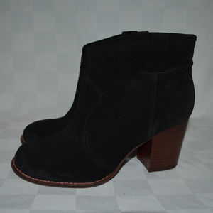 Sz 6M Splendid Black Suede Ankle Booties Boots
